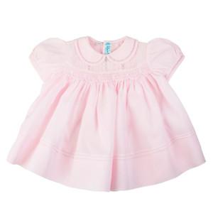 Rosebud Detail Smocked Dress