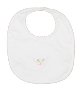 Embroidered Bow Bib