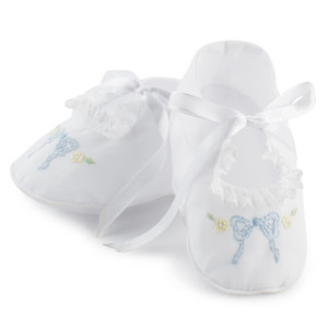 Girls Leaf Bow Collection Booties