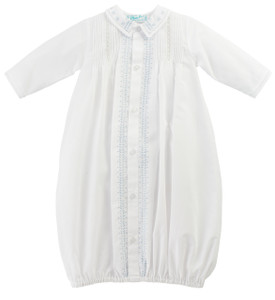 Boys Leaf Embroidered Take Me Home Gown