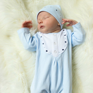 Boys Dot Bib Romper