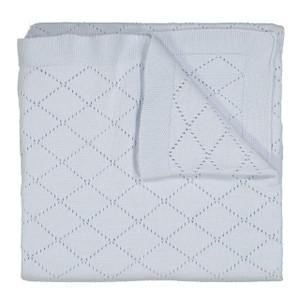 Diamond Pointelle Knit Blanket
