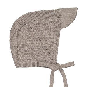 Knit Ribbed Bonnet