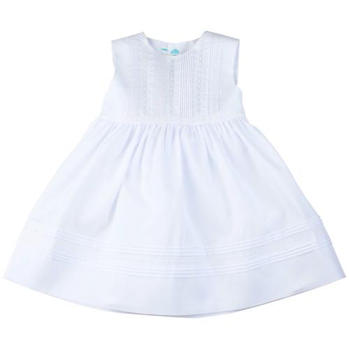 Lace and Pintucks Sleeveless Dress