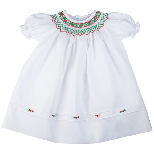 Short Sleeves Holiday Bishop Dress