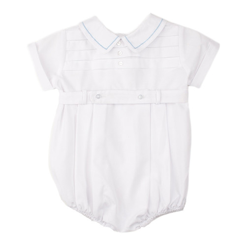 Boys Belted Creeper with Horizontal Pleat