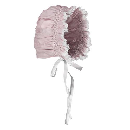 Girls Smocked Lace Bonnet