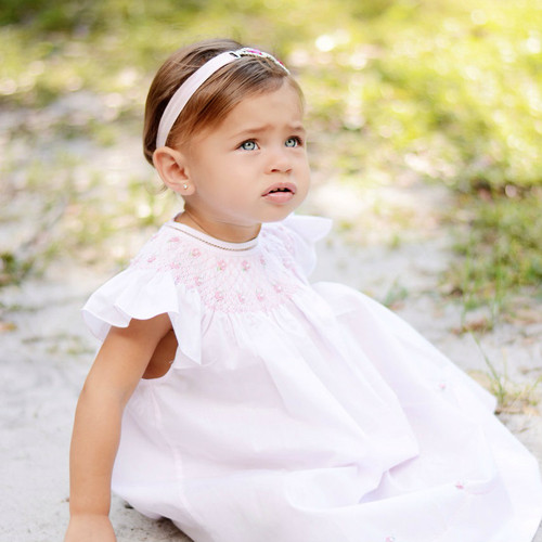 Pearl Flower Fly Sleeve Bishop Dress