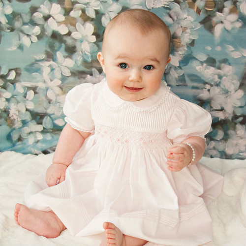 Pintucked and Smocked Dress