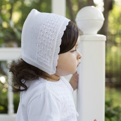 Girls Special Occasion Knit Bonnet