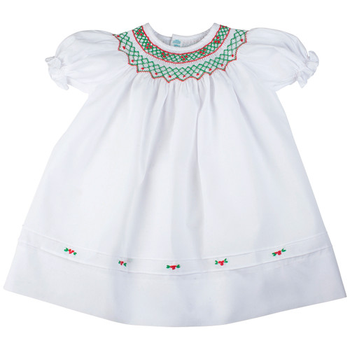 Short Sleeves Holiday Bishop Dress