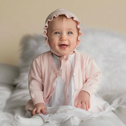 Rosebud Ruffle Knit Cardigan