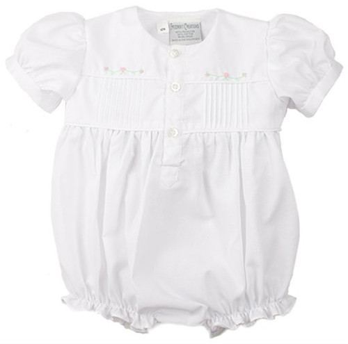 Friedknit Creations White Open Front Rosebud Bubble