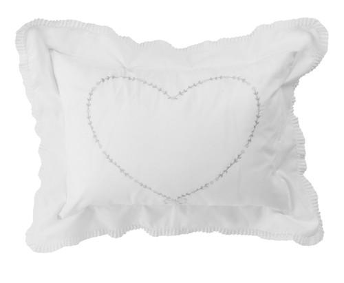 Girls Floral Heart Pillow Case