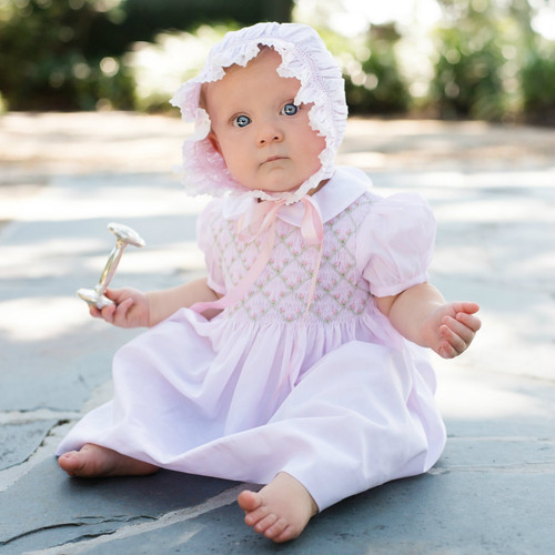 Rosebud Diamond Smocked Dress