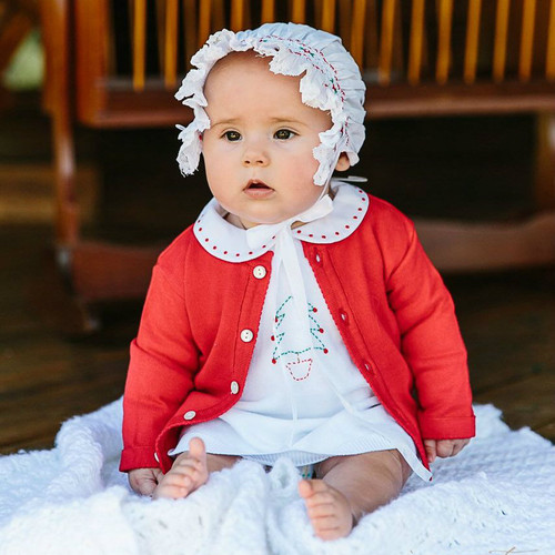 Holiday Smocked Bonnet