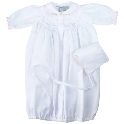 Smocked Take Me Home Gown with Hat
