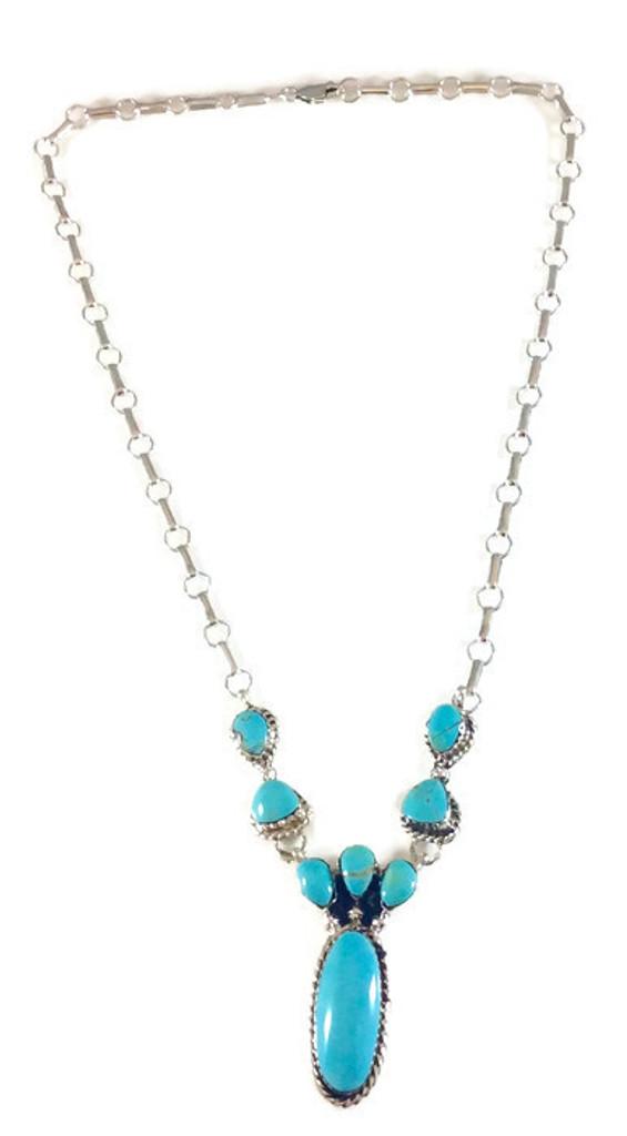 Kingman Turquoise Necklace Artist: Mike Smith