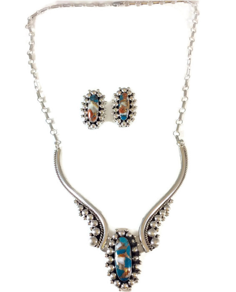 Drop Necklace and Earring Set