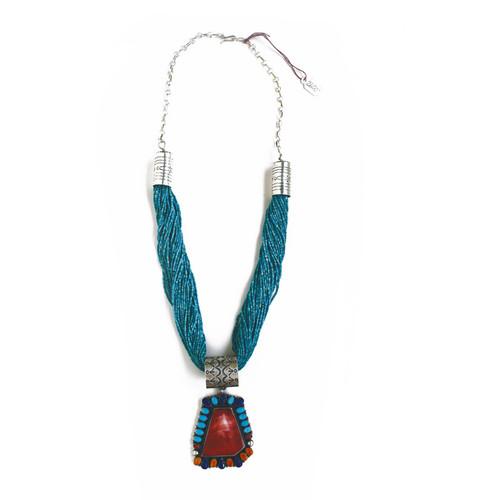 Colorful Pendant w/Necklace