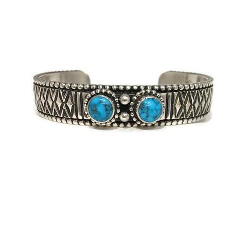 Johnathan Nez Ithica Peak turquoise cuff bracelet