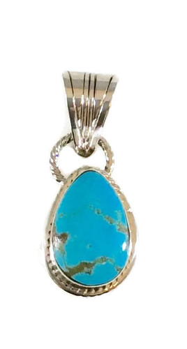 Pear Kingman Turquoise .925 Sterling Silver