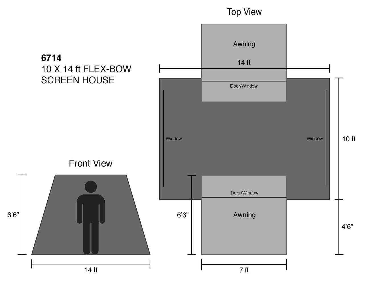 10 x 14 ft. Screen House