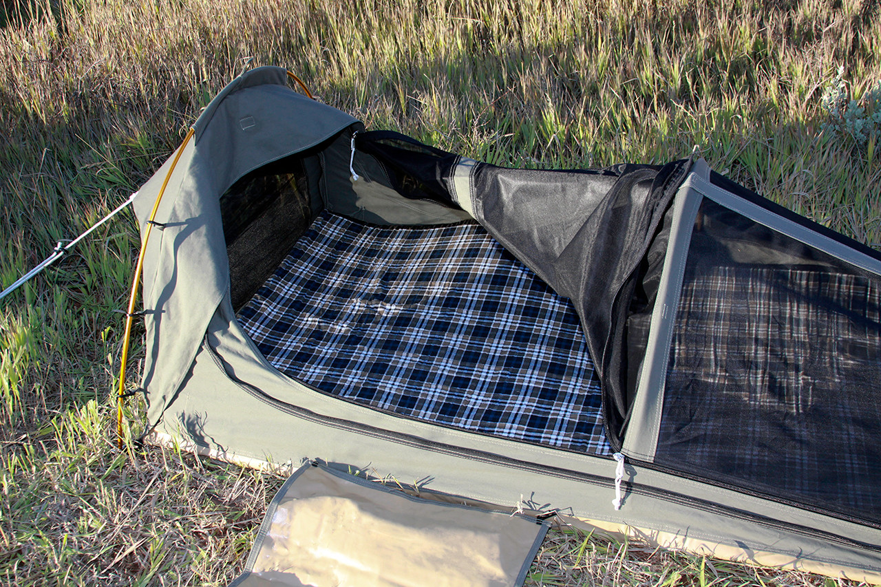 Foam mattress pad with flannel cover.