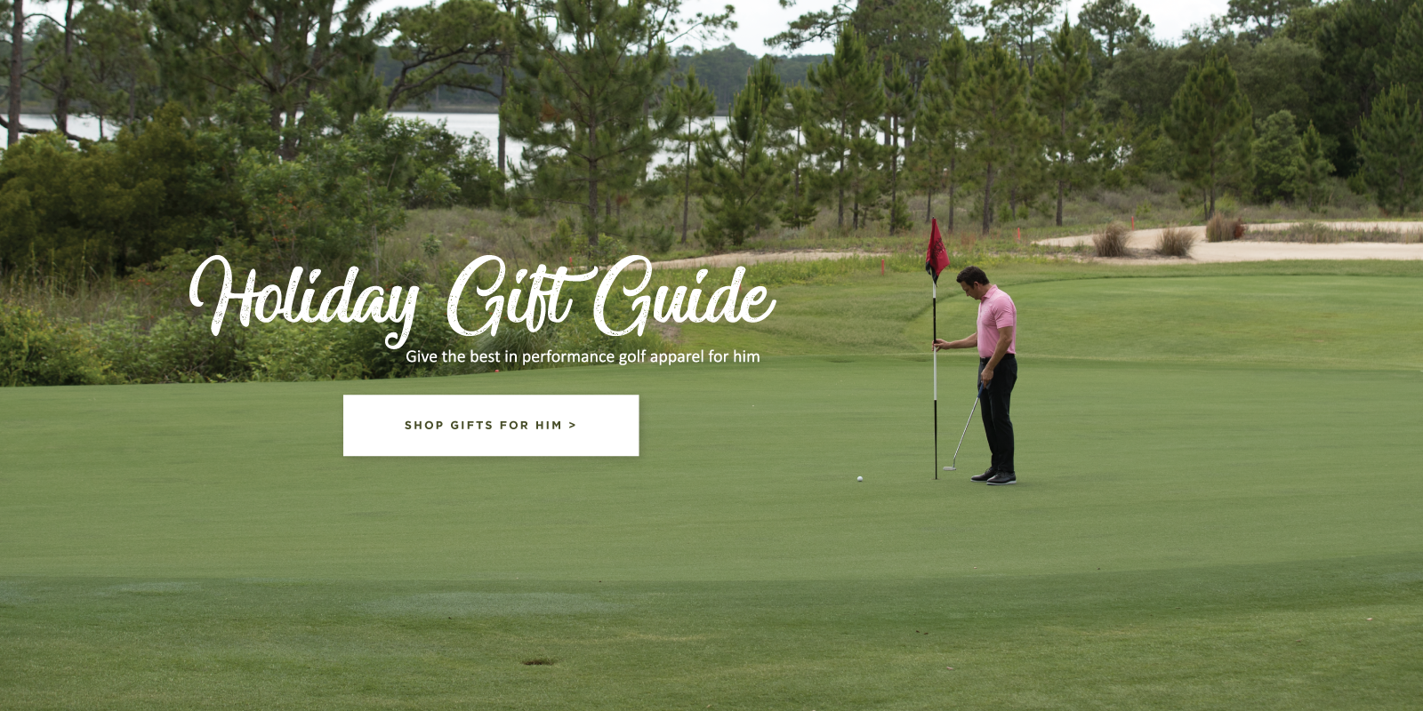 Holiday gift guide. Give the best in performance golf apparel for him. Shop gifts for him.