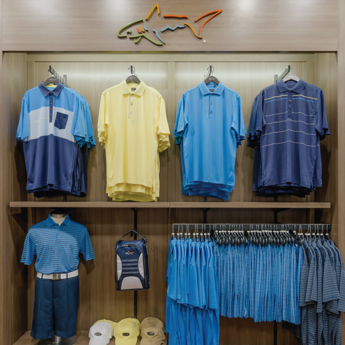 Greg Norman shirts in store