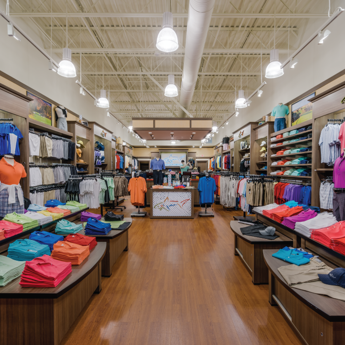Inside Greg Norman retail outlet