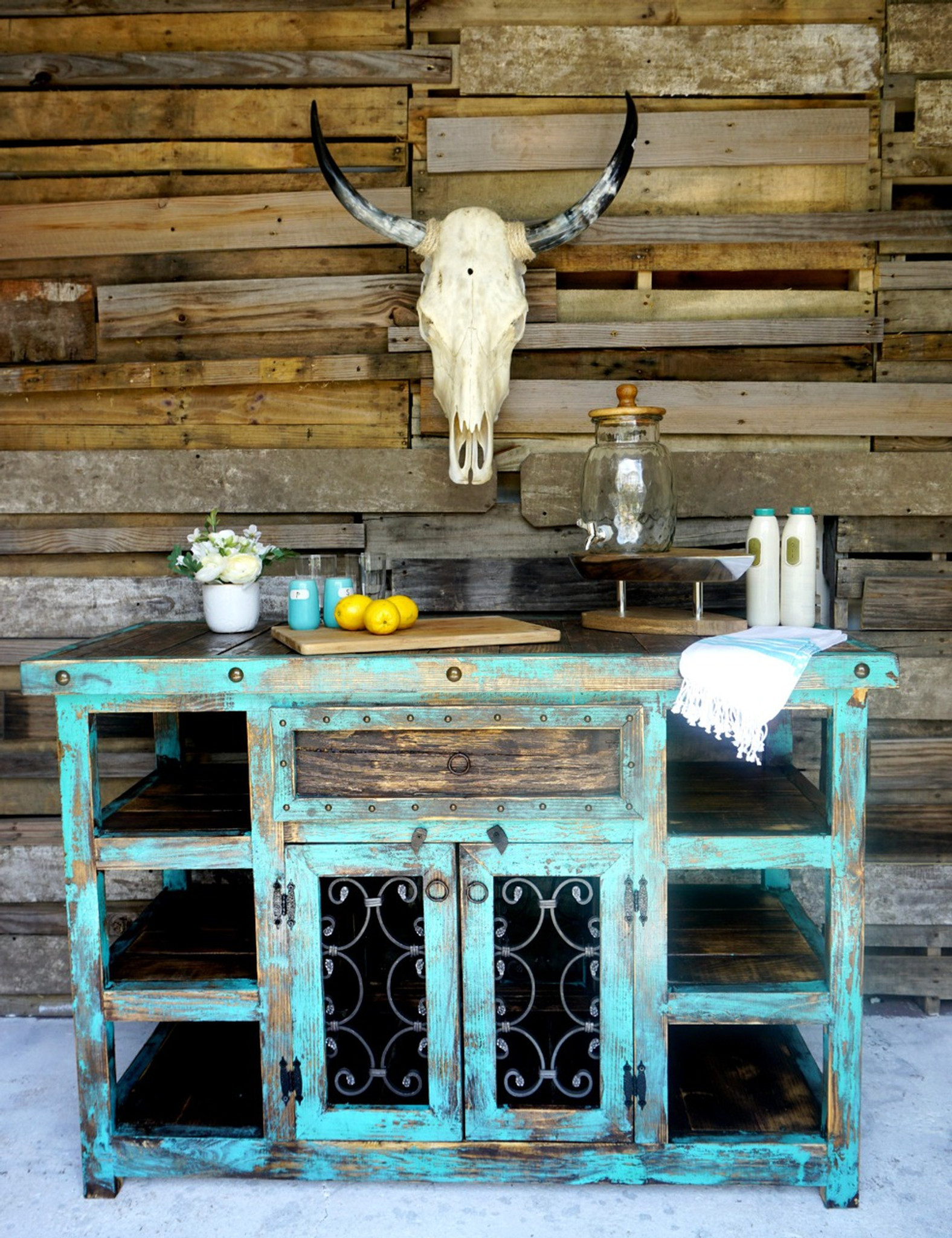 Indigo Rustic Island| Sofia\'s Rustic Furniture