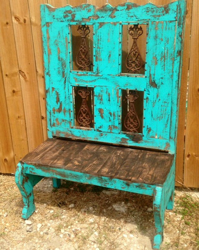 Tall Back Bench with Iron