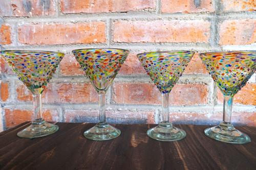 Fiesta Mexican Martini Glass Set of 4
