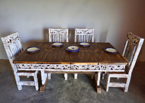 Conchita Farmhouse Table & 6 Chairs