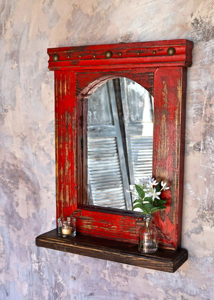 Esteban Mirror Shelf Sofia S Rustic Furniture