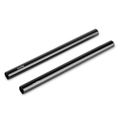 2pcs 15mm Black Aluminum Alloy Rod(M12-20cm) 8inch 1051
