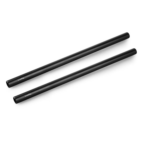 2pcs 15mm Black Aluminum Alloy Rod(M12-25cm) 10inch 1052