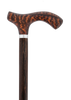 Fritz Walking Cane with Genuine Snakewood Handle & Wenge Shaft with Silver Collar