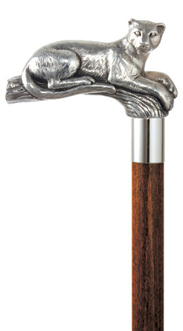 Puma Silver Plated Handle Walking Cane