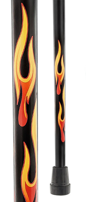 House Flame Derby Walking Cane With Mesh Carbon Fiber Shaft