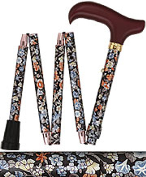 Evening Wildflowers Mini Compact Folding Cane