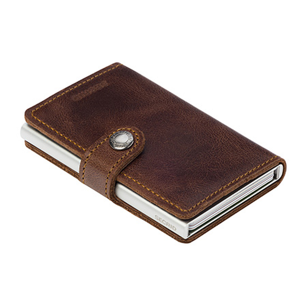 RFID Safe Miniwallet - Vintage Brown