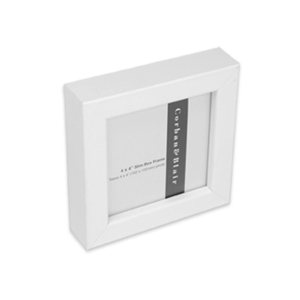 "SLIM BOX FRAME 4x4"" White"