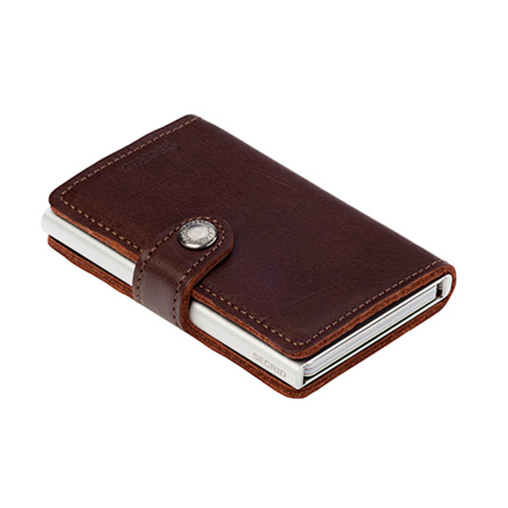 RFID Safe Miniwallet - Dark Brown