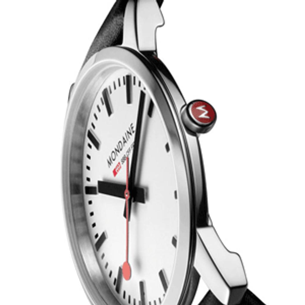 White dial shown