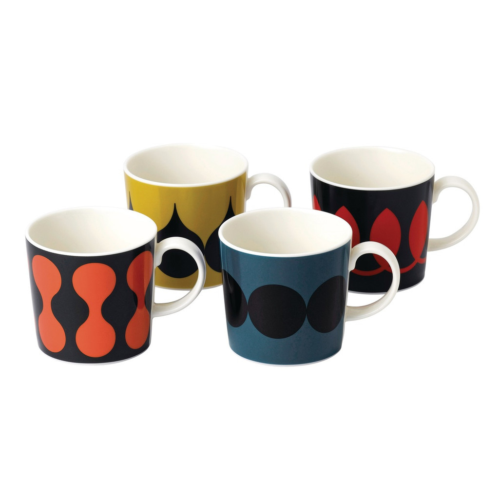 Complete the Geometric Collection with a set of Geometric Mugs (4pc).