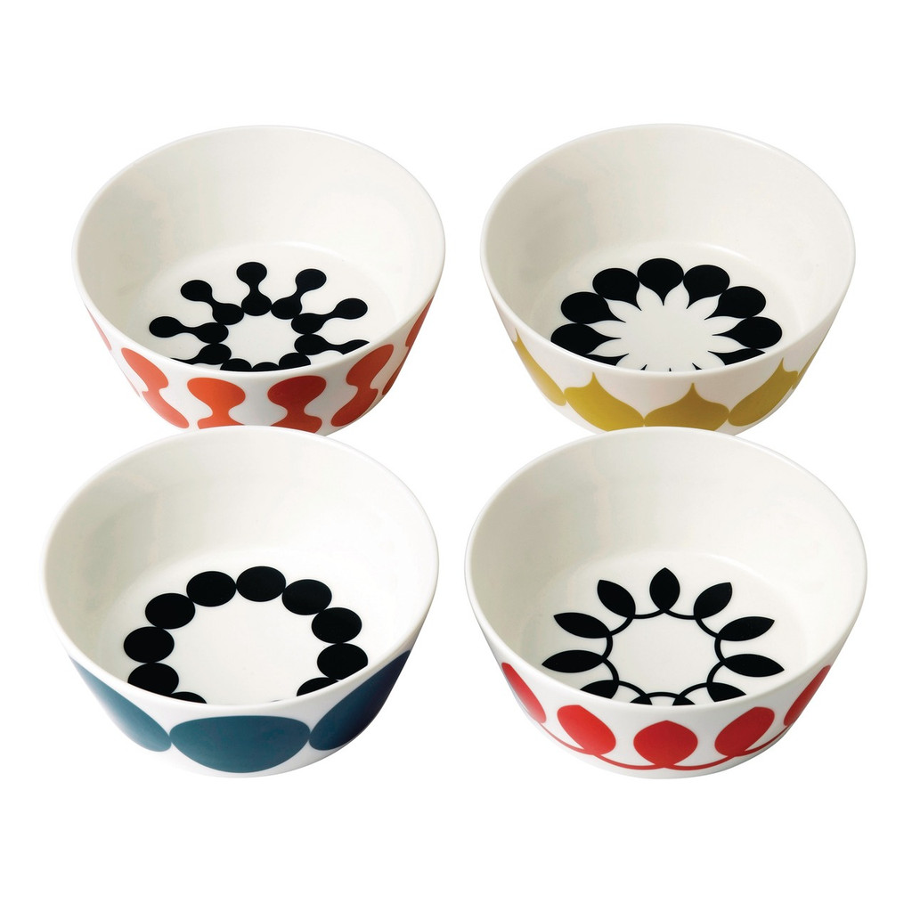Geometric Collection by Charlene Mullen with a set of Geometric Cereal bowls (4pc).