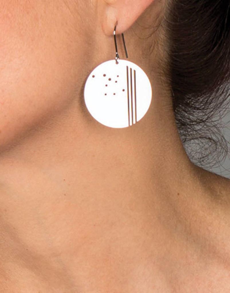 Deco Circle Dot Earrings
