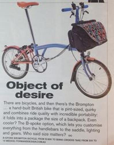 Brompton Bike is SMH's Object of Desire
